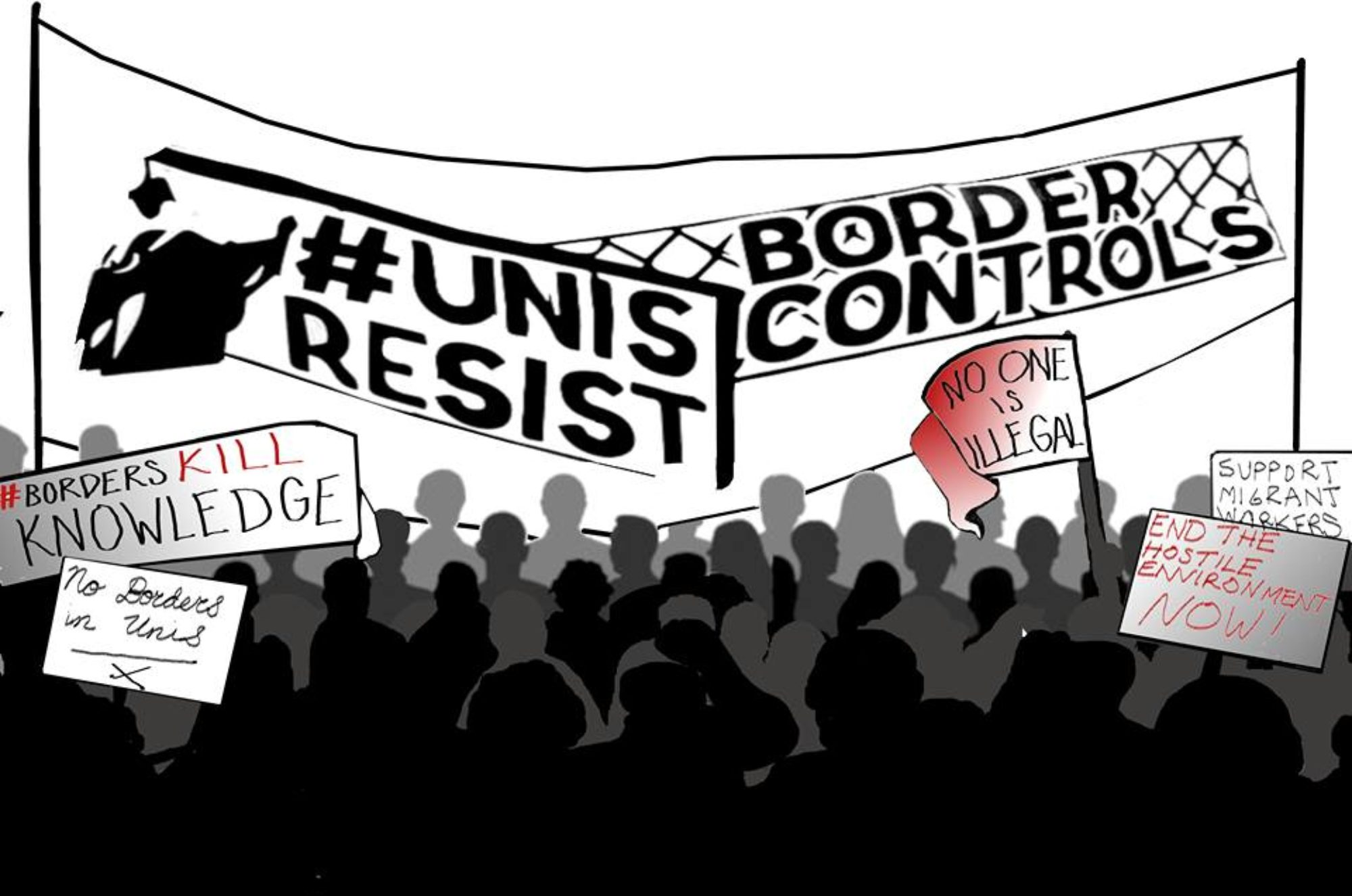 Unis Resist Border Controls